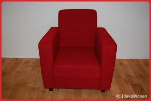 Fauteuil 'King' Rood