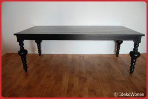 Eetkamertafel Zwart 100x200