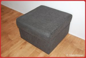 Hocker 'Sharon' 60x60 Antraciet