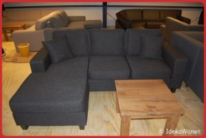 Hoekbank ''Bart'' 3+chaise Antraciet