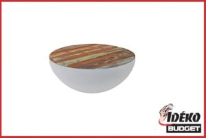 Salontafel bowl bob wit+kleur 90 cm