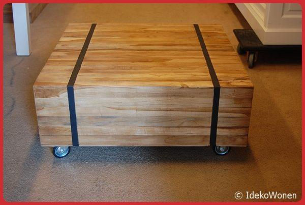 Salontafel teak Ozzy 80x80 cm