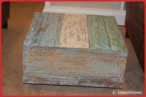 Salontafel Teakhout gekleurd 60x60 cm