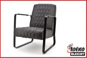 Fauteuil 'Coos' vintage antraciet