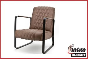 Fauteuil 'Coos' vintage bruin