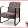 Fauteuil 'Coos' vintage taupe