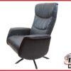 Relax fauteuil 'Wind' antraciet leer