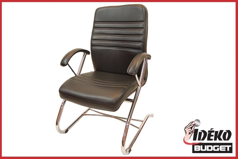 Luxe vergaderstoel fauteuil bureaustoel zwart ideko budget wonen