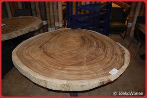Suar boomstamtafel rond 140 cm