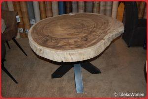 Suar boomstamtafel rond 130 cm