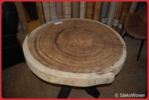 Suar boomstamtafel rond 110 cm