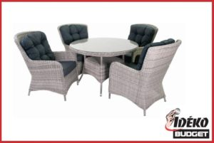 Luxe wicker dinnerset