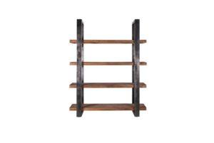 Boekenkast Mango 160 cm met metalen frame - zwart