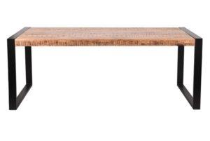 Eetkamertafel brussels mango hout + staal