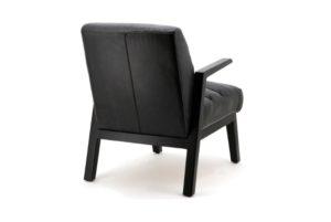 Fauteuil Montell zwart vintage leer