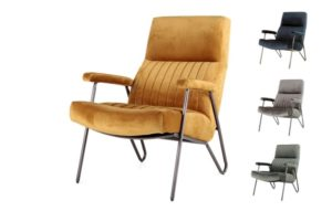 "Fauteuil ""William"" Leverbaar in 4 kleuren!"