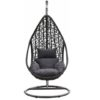 "Wicker relax hangstoel ""mona"" zwart"