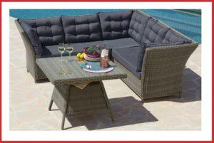 Luxe wicker dinnerset / loungeset