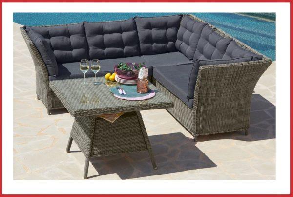 "Luxe wicker dinnerset / loungeset ""Madisol"""