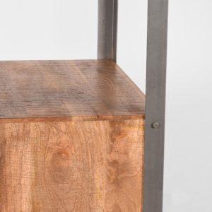 Boekenkast Factory 68x45x185 cm mango hout+metaal