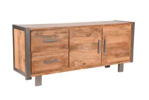 Dressoir Factory 180x45x78 cm mango hout+metaal