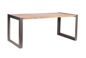 Eettafel Factory mango hout+metaal