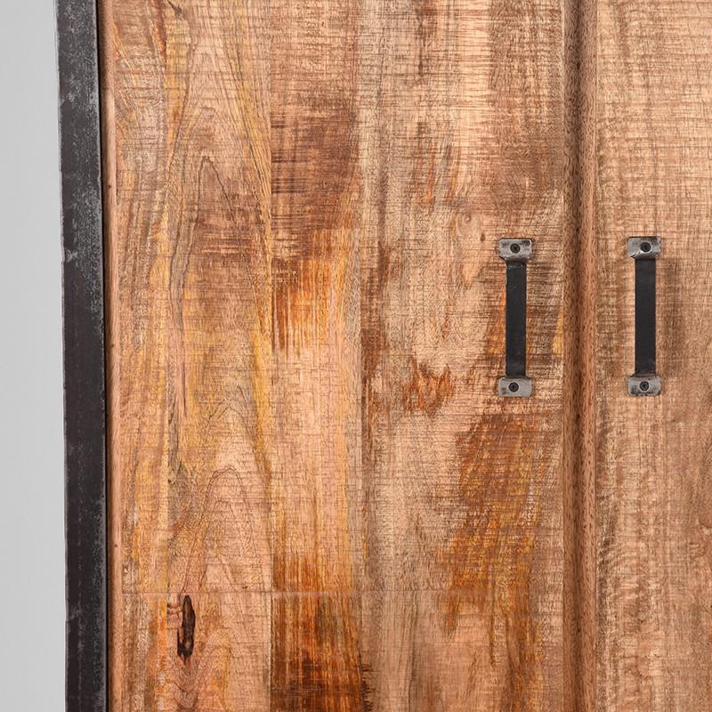 Hoge Kast Lock 2 Deurs 100x45x185 Cm