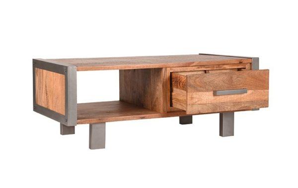 Salontafel Factory 120x70x46 cm mango hout+metaal