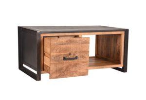 Salontafel Lock 110x60x50 cm mango hout + metaal