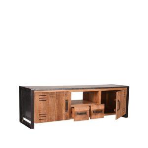 Tv-Meubel Lock 160x45x50 cm mango hout + metaal
